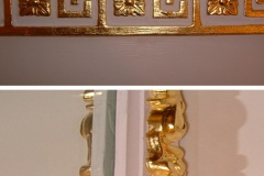 Gilded Greek Key Cornice & Mirror Moulding, London Rather Unique Decorating
