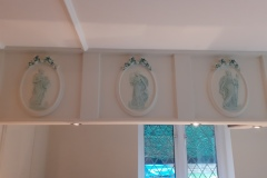 Specialist-Paint-Patina-Effect-on-Cornice-Motifs-Manor-Road-Chigwell-Essex-8