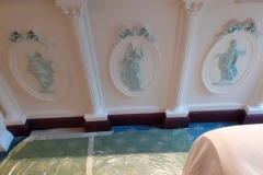 Specialist-Paint-Patina-Effect-on-Cornice-Motifs-Manor-Road-Chigwell-Essex-9